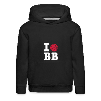 Kids' Hoodie with design I Love Basketball