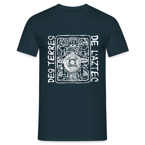 Männer T-Shirt klassisch - T-Shirts Des Terres De L'Aztec (white)