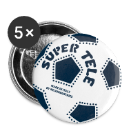 Bottoni/Spille ~ Spilla media 32 mm ~ SuperTele Juventus 5PackPins