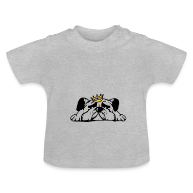 A cute pug with crown Baby Shirts