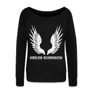 Hoodies & Sweatshirts ~ Women's Boat Neck Long Sleeve Top ~ Angels of the Onslaught