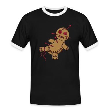 2 col - Voodoo Puppe Doll Funny Game Hawaii Tattoo Horror Psychopath T-shirt
