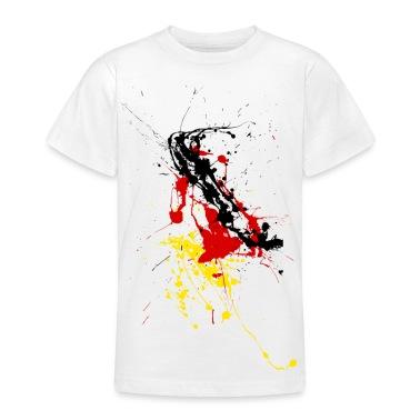 Shirt fan Germania - macchie di colore T-shirt bambini