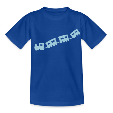 Royal blue train Kids' Shirts
