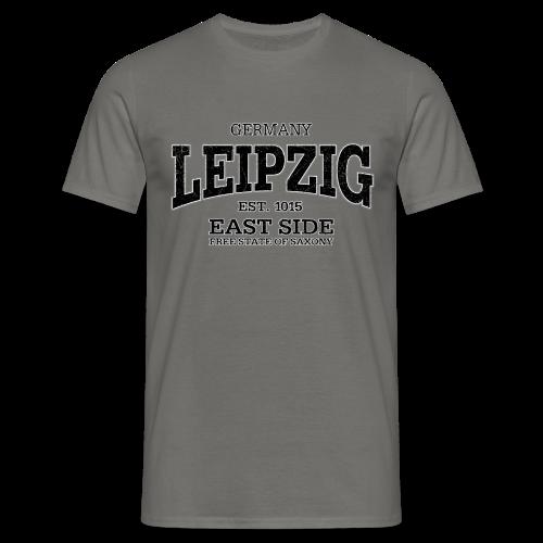 Männer T-Shirt klassisch - T-Shirts Leipzig (black oldstyle)