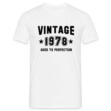 VINTAGE 1978 - Birthday T-Shirt White