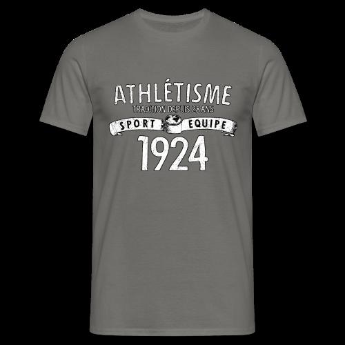 Männer T-Shirt klassisch - T-Shirts Sport Equipe 1924 (white oldstyle)
