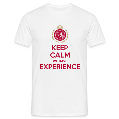 FC Británico de Madrid Keep Calm 40th Anniversary T-Shirt - Click to view this and others