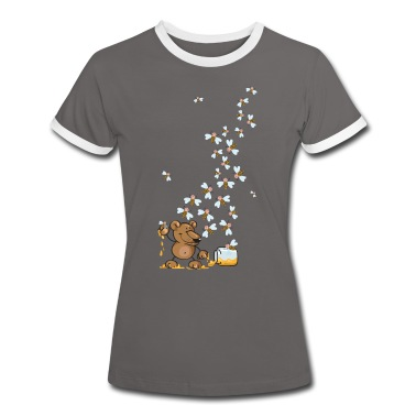 The bear, the honey and many bees T-Shirts