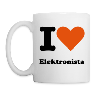 Bottles & Mugs ~ Mug ~ I heart Elektronista koppen!