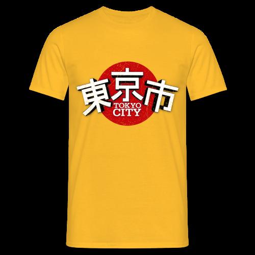 Männer T-Shirt klassisch - T-Shirts Tokyo City Japan (oldstyle)