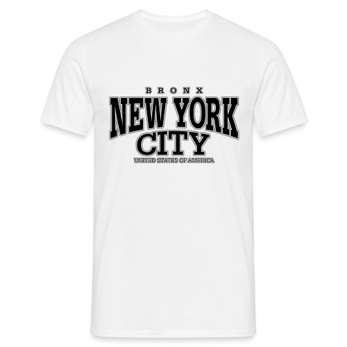 Männer T-Shirt klassisch - T-Shirts New York City Bronx black
