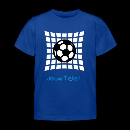 kinder voetbal shirt met jouw tekst goudoranje