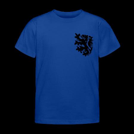 wk kinder t-shirt met retro leeuwtje goudoranje