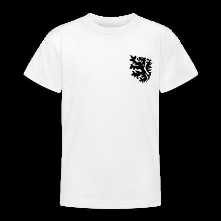 wk tiener t-shirt met retro leeuwtje goudoranje