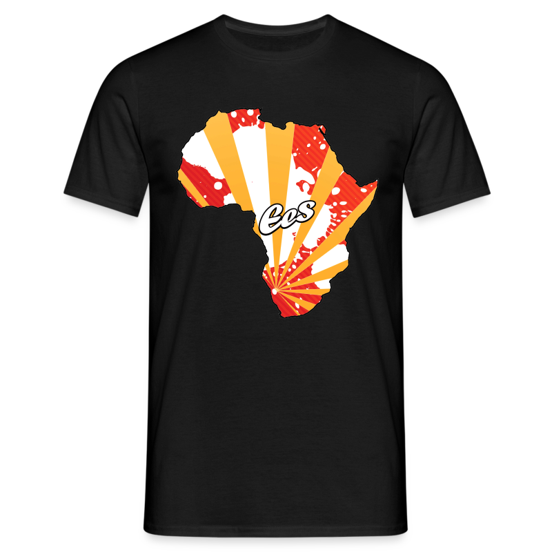 EES - Africa is the Future (black/rays) - Men's T-Shirt - Men's T-Shirt