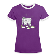 T-Shirts ~ Women's Ringer T-Shirt ~ Elephant