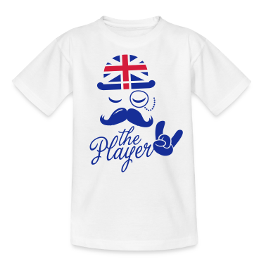 England Gentleman championship player football | olympics sporting moustache Kids' Shirts