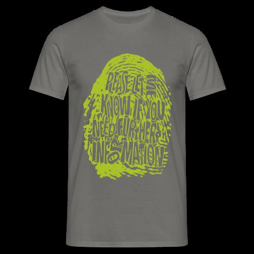 Männer T-Shirt klassisch - T-Shirts Fingerprint DNA (green)