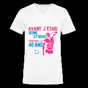40 ans avant jeune beau anniversaire hom Tee shirts