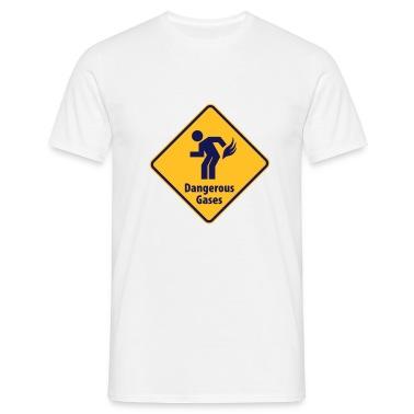 Bianco non incolonnarsi, gas pericolosi! Maglietta