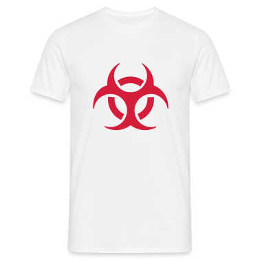 White biohazard T-Shirts