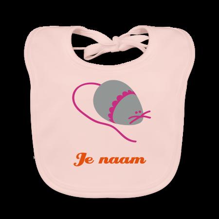 slabbetje muis met je naam roze
