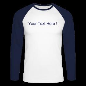 Long Sleeve Baseball Tee Navy/White ~ 0