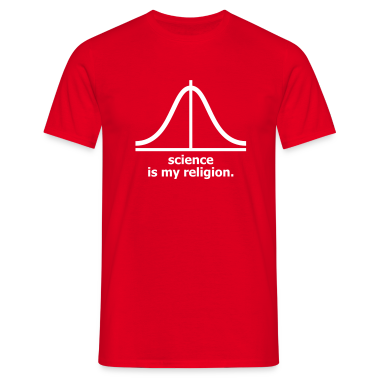 Red Science is my religion Men's Tees (short-sleeved)