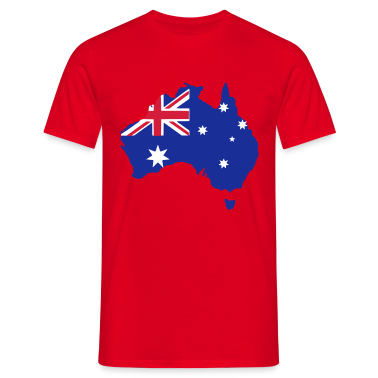 Red australia Men's Tees (short-sleeved)