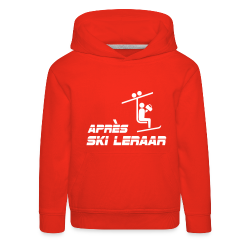 Kinder sweater met capuchon apres ski leraar