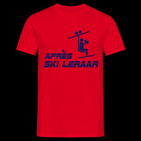 apresski leraar t-shirt rood