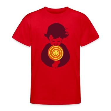 Red lollipop boy Kid's Shirts