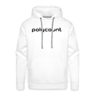 Hoodies & Sweatshirts ~ Men's Hoodie ~ LOGO TYPE - WHITE