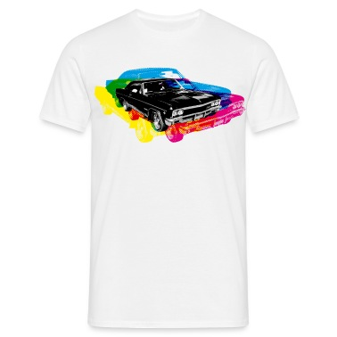 Bianco Muscle Car - Retro - CMYK T-shirt