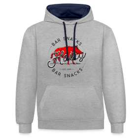 Hairy Bar Snacks Boar Brand - Contrast Colour Hoodie