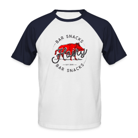 Hairy Bar Snacks Boar Brand - Men's Baseball T-Shirt