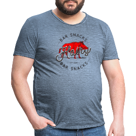Hairy Bar Snacks Boar Brand - Men's Vintage T-Shirt