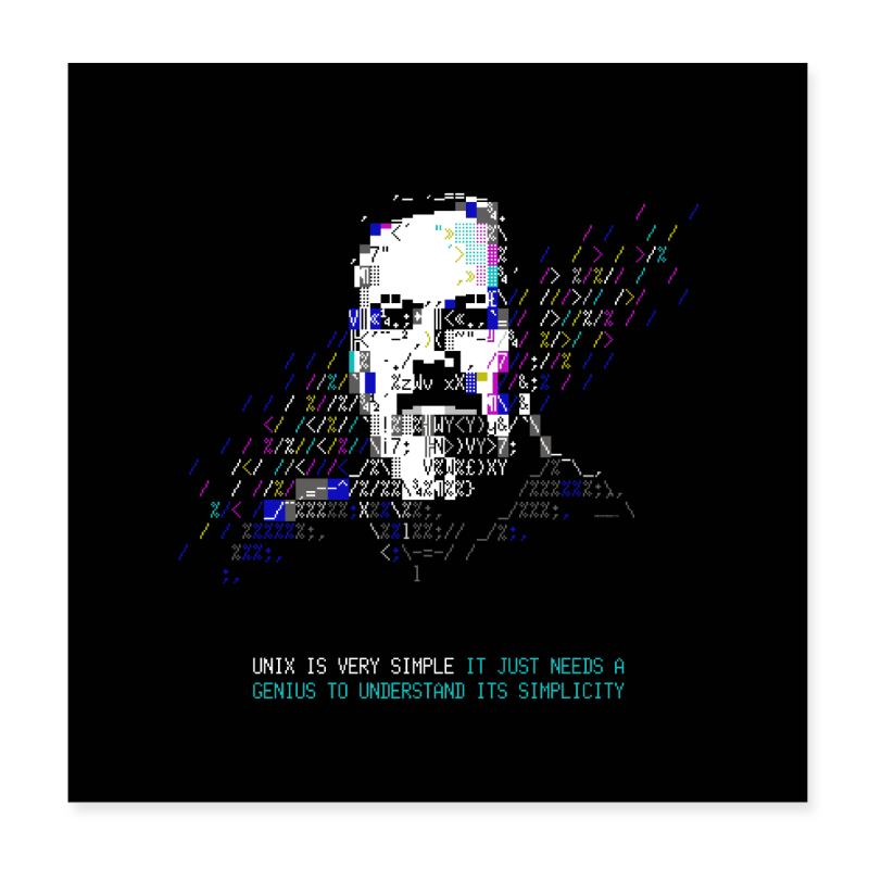 "Tech Heroes - Ritchie - Poster 8"" x 8"" (20x20 cm)"