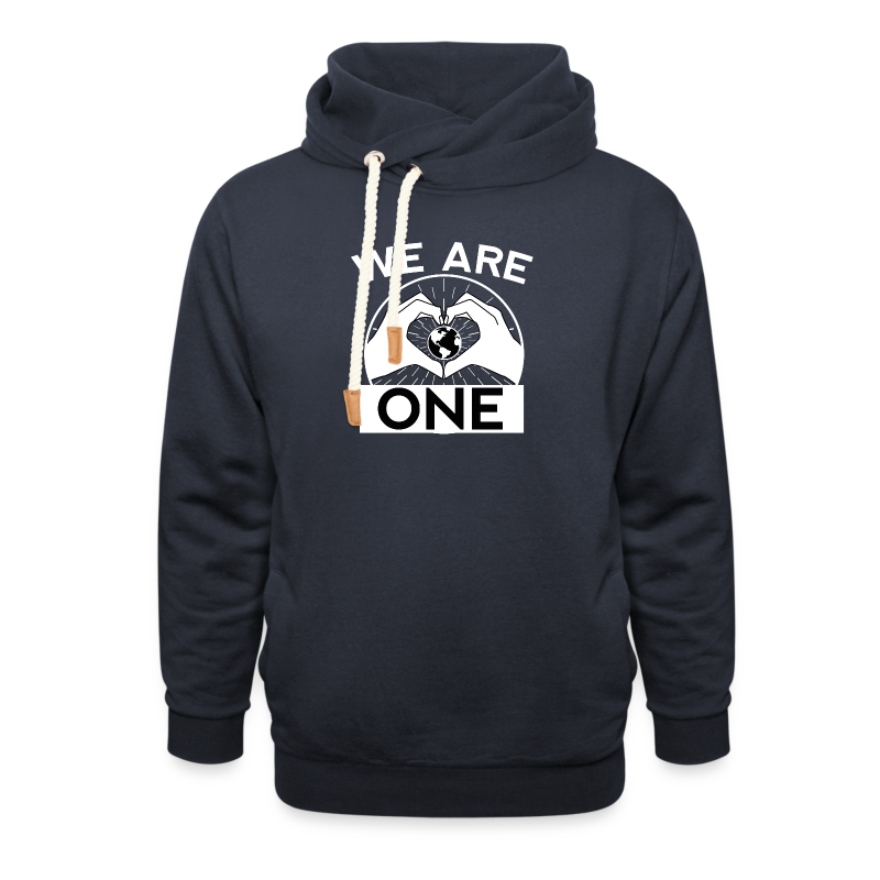 We are One - White - Schalkragen Hoodie