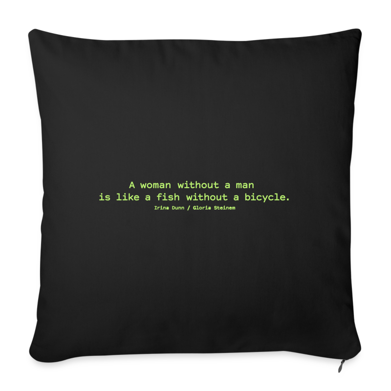 A woman without a man - Sofa pillow with filling 45cm x 45cm