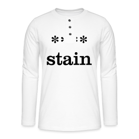 xxxx-stain - Henley long-sleeved shirt