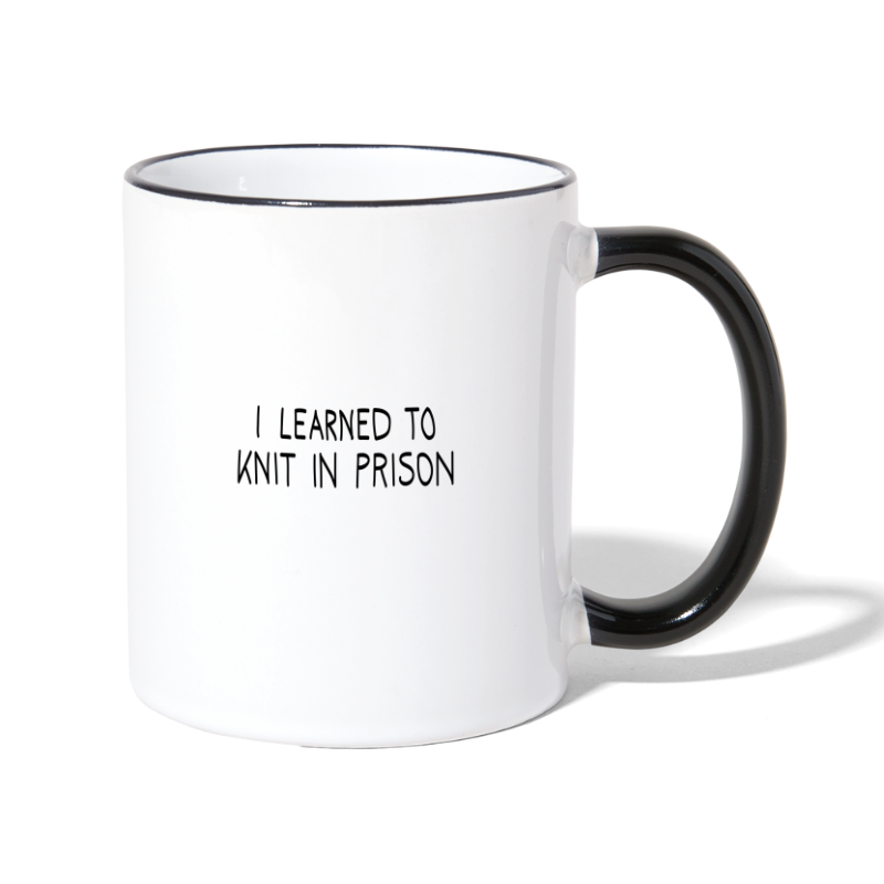 I learned to knit - Contrasting Mug