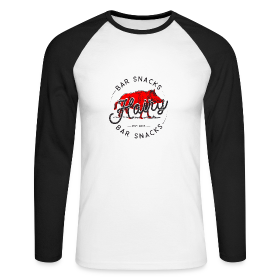 Hairy Bar Snacks Boar Brand - Men's Long Sleeve Baseball T-Shirt