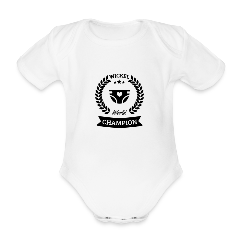 Baby Wickel World Champion - Baby Bio-Kurzarm-Body