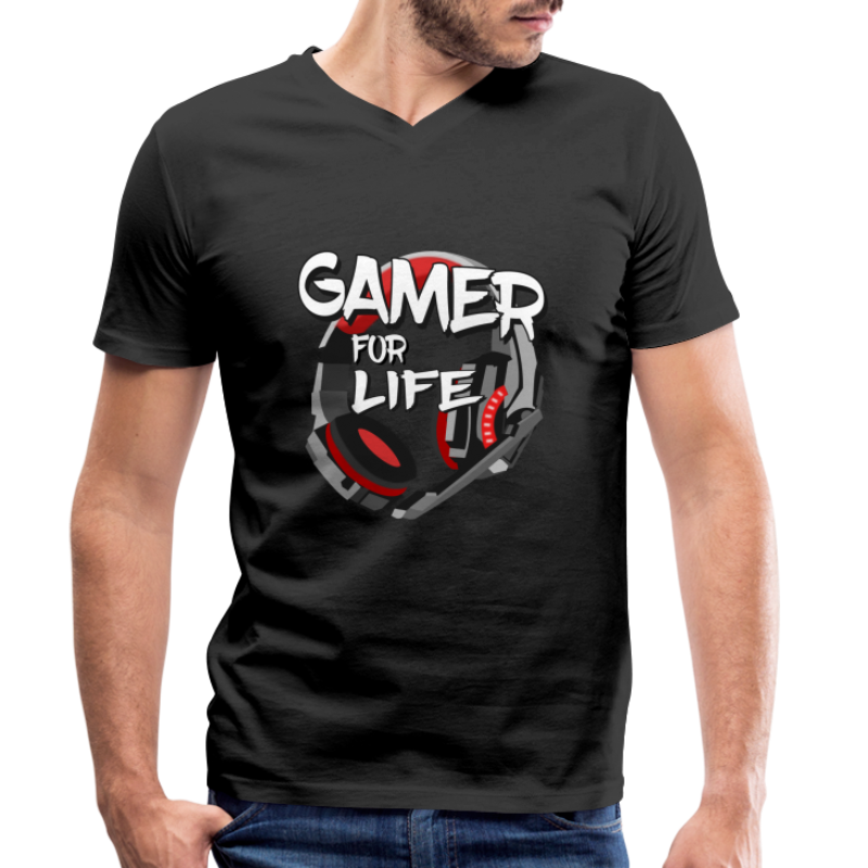 Gamer and gaming - T-shirt bio col V Stanley & Stella Homme