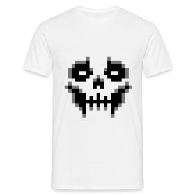 pixel-skull - Men's T-Shirt