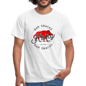 Hairy Bar Snacks Boar Brand - Men's T-Shirt