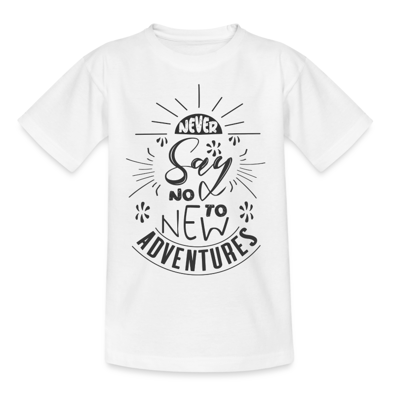 Aventure, dictons et citations marrantes - - T-shirt Ado