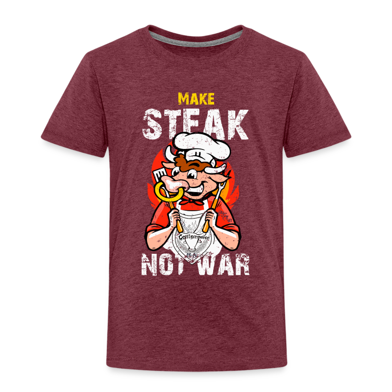 Make Steak, not War! - Kinder Premium T-Shirt